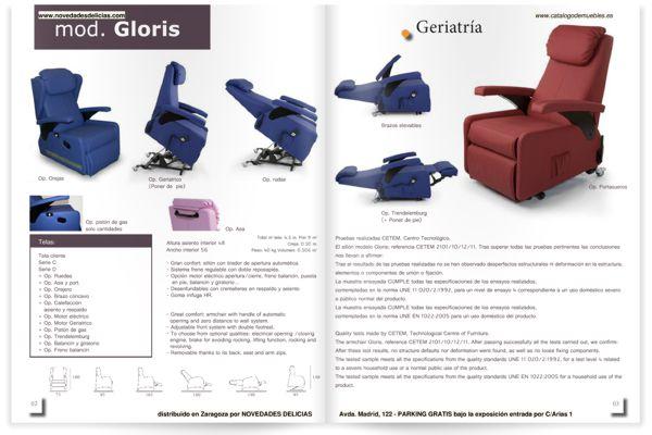 Catálogo tapicería geriatría Candela