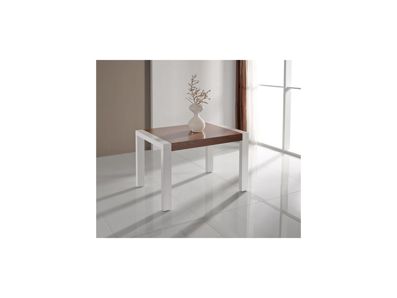 Pack mesa extensible 120 140 a 200 220 y 4 sillas dobles for Mesa 80x80 extensible a 120