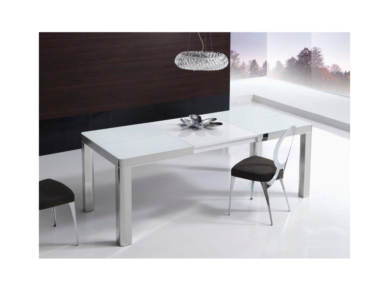 Mesa comedor 140x90 my table b acero for Mesas de comedor de cristal extensibles