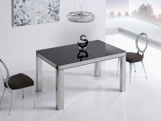 MESA COMEDOR 140x90 MY TABLE B.ACERO